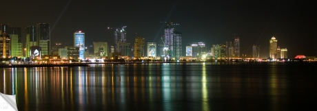 Cropped image of the City of Doha
